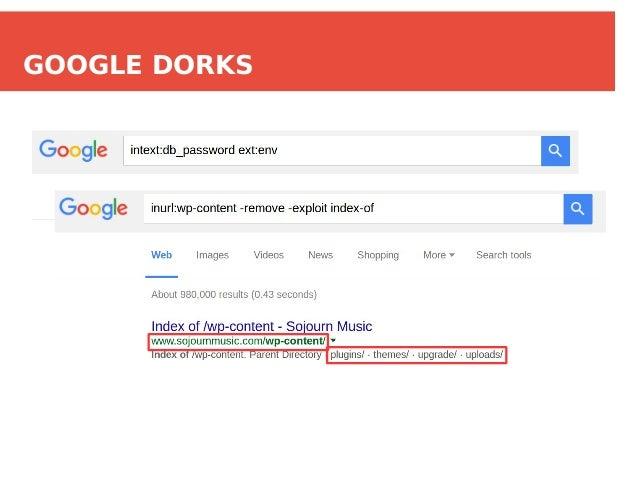 Index Of Google Dorks