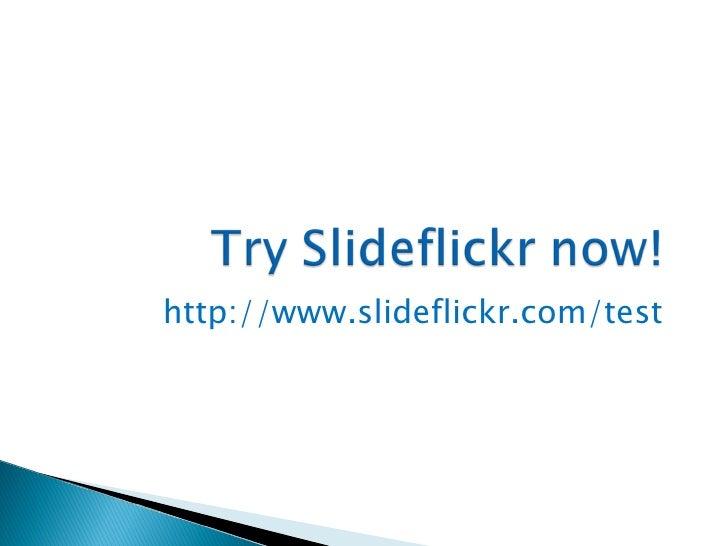 slideflickr gratis