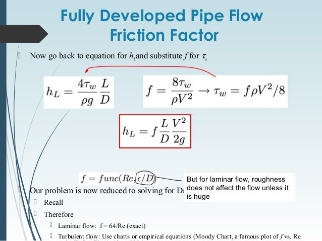 determining laminar and turbulent flow Determining friction factors in turbulent properties of the pipe and the fluid flow determining friction factors for the also covers laminar.