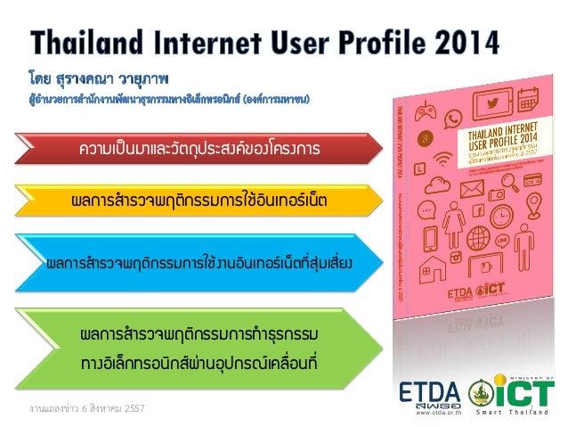 ความเป็นมาและวัตถุประสงค์ของโครงการ  ผลการสารวจพฤติกรรมการใช้อินเทอร์เน็ต  ผลการสารวจพฤติกรรมการใช้งานอินเทอร์เน็ตที่สุ่มเ...