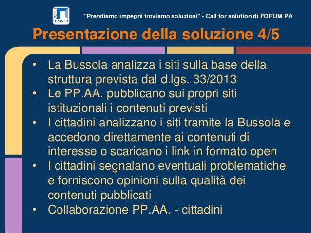 """""""Prendiamo impegni troviamo soluzioni"""" - Call for solution di FORUM PA • La Bussola analizza i siti sulla base della strut..."""