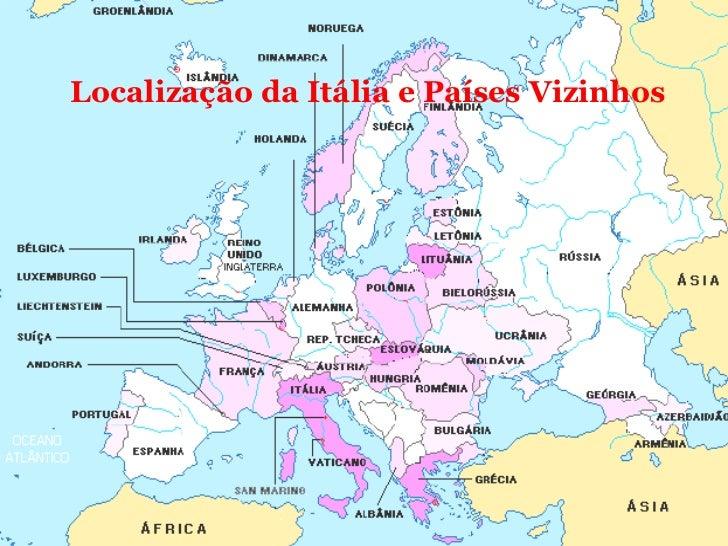 Localização da Itália e Países Vizinhos