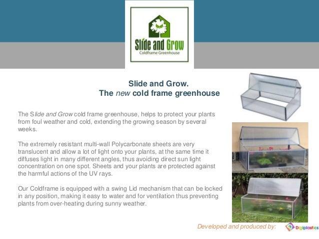 Slide & grow cold frame greenhouse