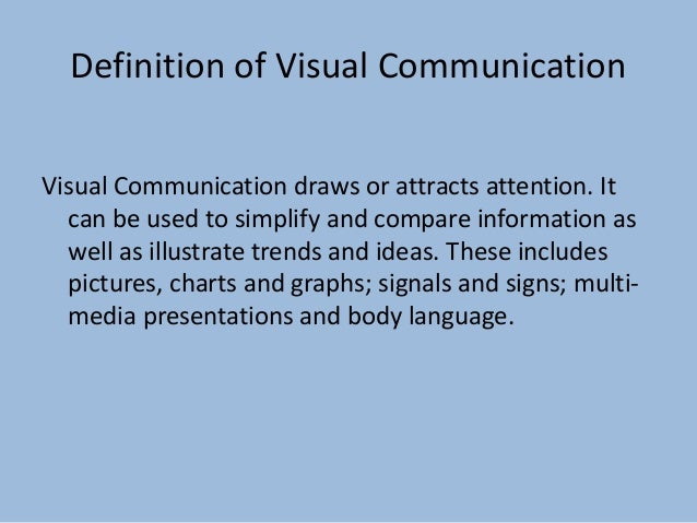 a description of visual communication Careers in visual communicationmay include design, advertisement and even game development read on for more career options in visual communication.