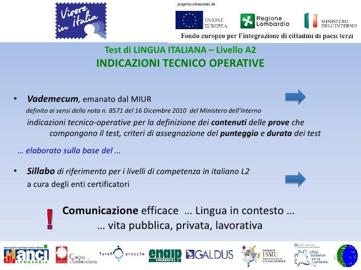 Emejing Test Della Lingua Italiana Per Carta Di Soggiorno Pictures ...