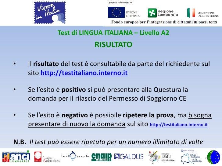 Stunning Risultati Test Italiano Per Carta Di Soggiorno Pictures ...