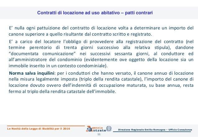 Legge di stabilit 2016 le novit per immobili risparmio for Detrazione canone locazione