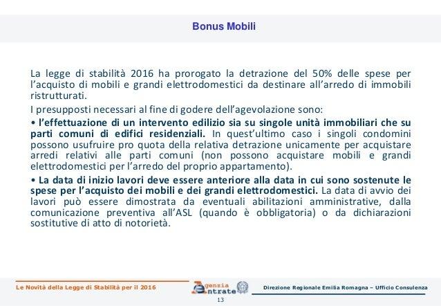 Legge di stabilit 2016 le novit per immobili risparmio for Spese arredo immobili ristrutturati
