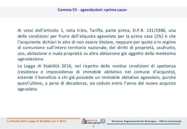 Legge di stabilit 2016 le novit per immobili risparmio - Detrazione iva acquisto prima casa 2016 ...
