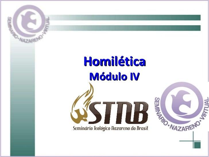 Homilética Módulo IV