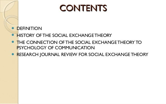 exchange relationship It, this paper reviews the social exchange relationship from seven basic  principles, namely, reciprocity, negotiation, rationality, altruism.