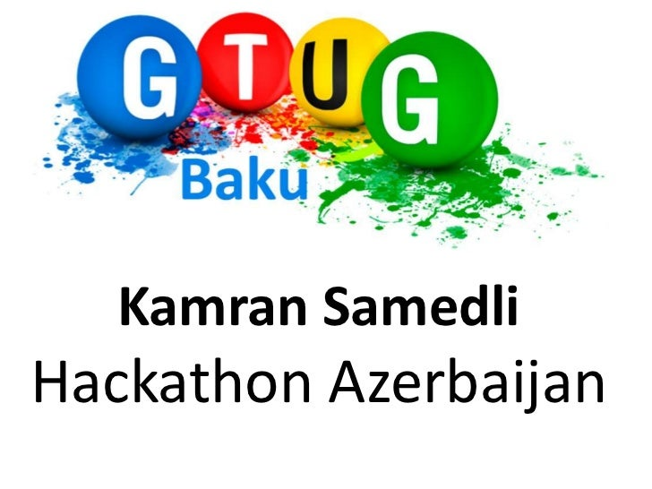 Kamran SamedliHackathon Azerbaijan