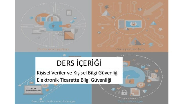 Elektronik Ticarette Bilgi Güvenliği Kişisel Veriler ve Kişisel Bilgi Güvenliği DERS İÇERİĞİ Erdal Oral E-ticaret 2018 Der...
