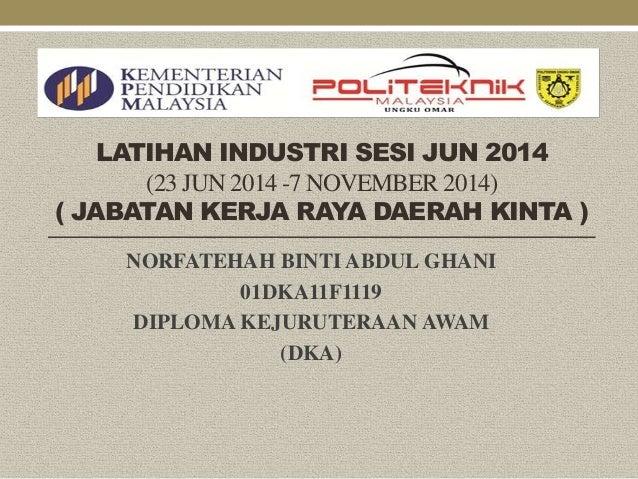 Slide Latihan Industri Sesi Jun 2014 Copy