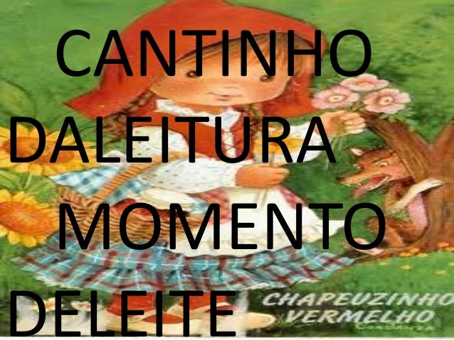 CANTINHO DALEITURA MOMENTO DELEITE