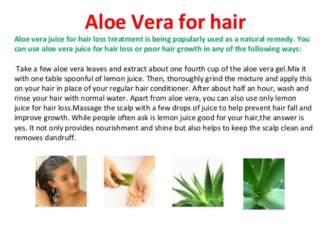 Benefits of aloe vera for hair loss