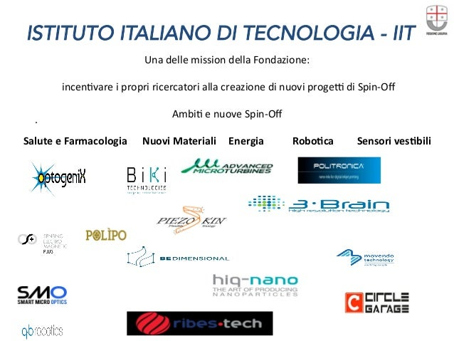 ISTITUTO ITALIANO DI TECNOLOGIA - IIT . UnadellemissiondellaFondazione:  incenDvareipropriricercatoriallacrea...