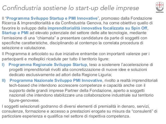 """Confindustria sostiene lo start-up delle imprese  Il """"Programma Sviluppo Startup e PMI Innovative"""", promosso dalla Fondazi..."""