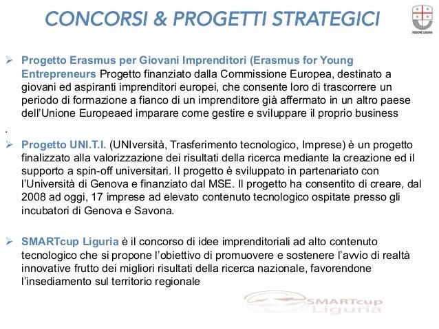 CONCORSI & PROGETTI STRATEGICI  Ø Progetto Erasmus per Giovani Imprenditori (Erasmus for Young Entrepreneurs Progetto fin...