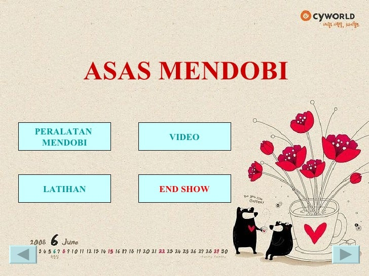 ASAS MENDOBI PERALATAN  MENDOBI VIDEO LATIHAN END SHOW