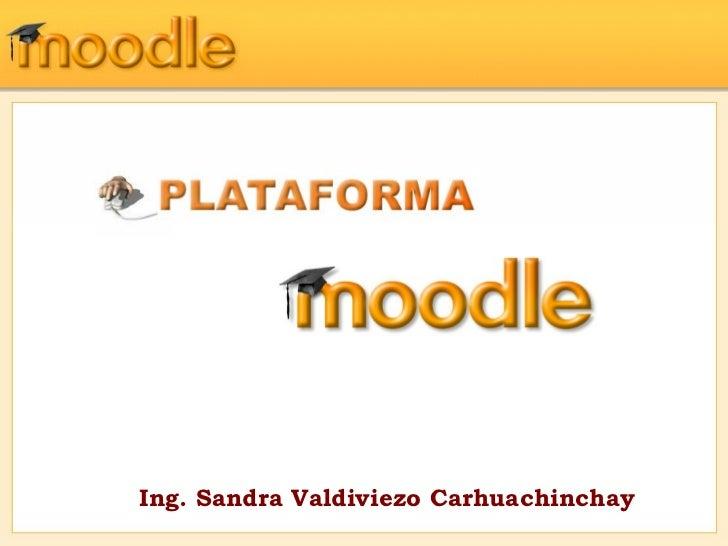 Ing. Sandra Valdiviezo Carhuachinchay