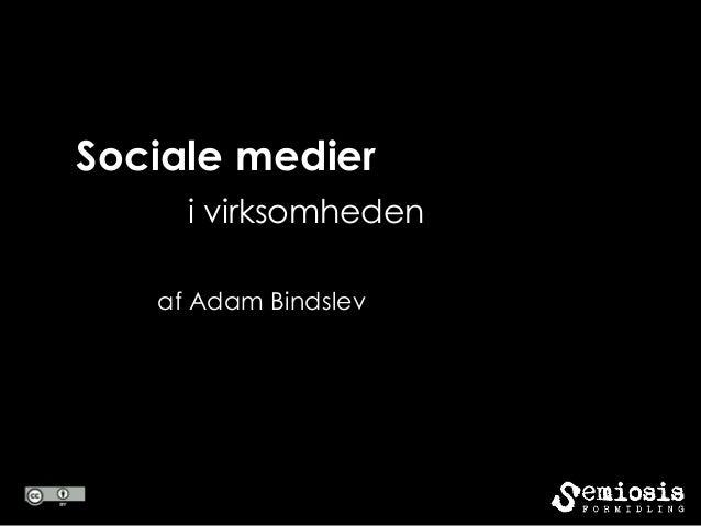 Sociale medieri virksomhedenaf Adam Bindslev