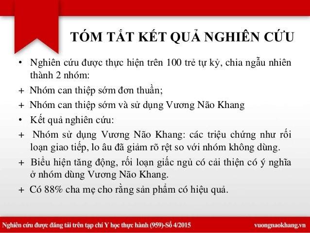 Nghiên cứu Vương Não Khang tại BV Nhi trung ương Slide 2