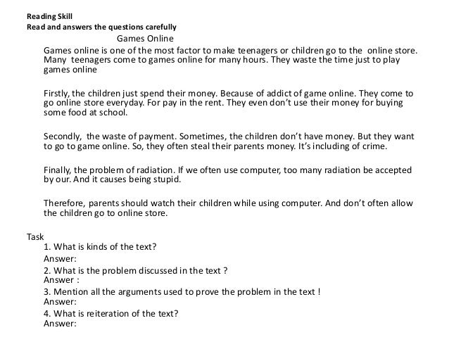 Hortatory Text About Internet Essay Sample