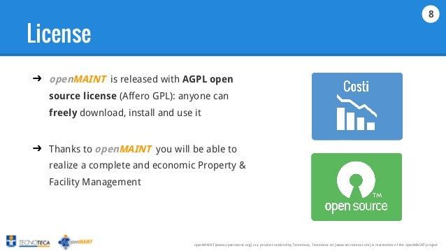 Slide openMAINT English