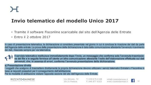 Invio dichiarazione redditi 2017 for Scadenza redditi 2017