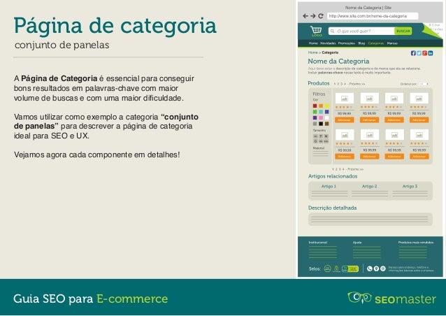 Página de Categoria - Guia SEO para E-commerce Slide 2