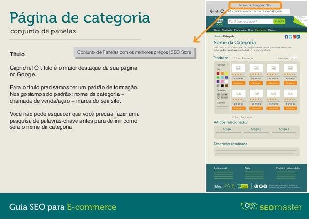 Página de Categoria - Guia SEO para E-commerce Slide 3