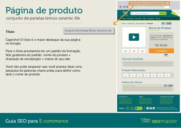 Página de Produto - Guia SEO para E-commerce Slide 2