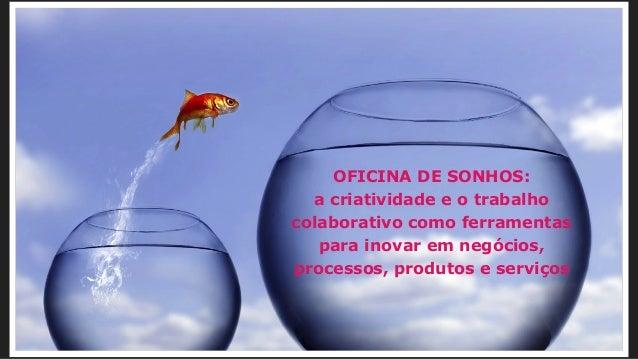 OFICINA DE SONHOS: a criatividade e o trabalho colaborativo como ferramentas para inovar em negócios, processos, produtos ...