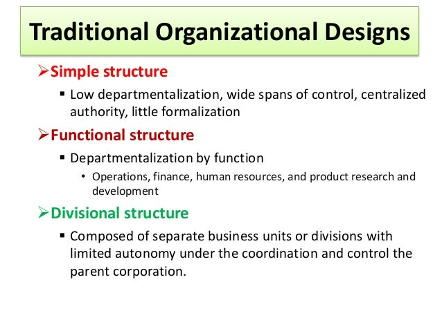 organizational structure and design in principle of management (chapt…