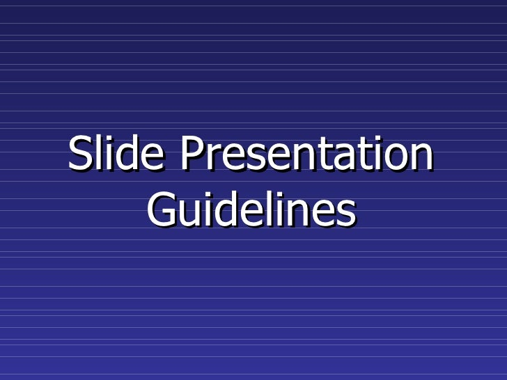 slide presentation guidelines