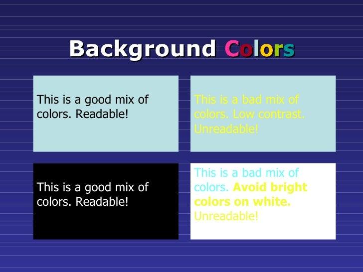 slide presentation guidelines