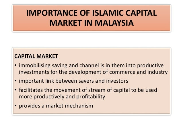 the importance of the capital market More market-based solutions and greater integration of capital markets 1  improving cross-border distribution of capital is important to expanding choice -  both.