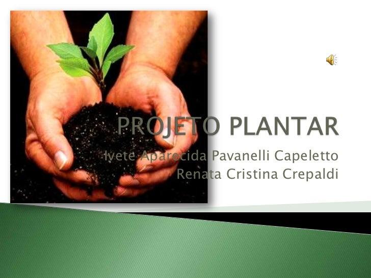 PROJETO PLANTAR<br />Ivete Aparecida Pavanelli Capeletto<br />Renata Cristina Crepaldi<br />