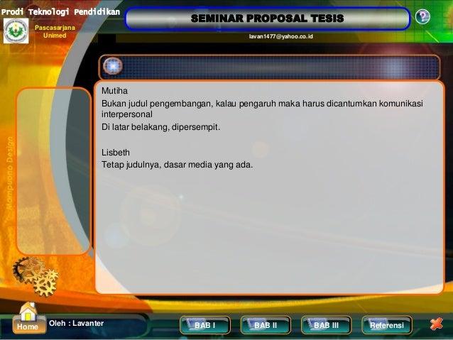Contoh Proposal Tesis Pendidikan