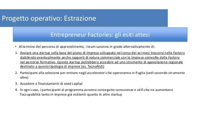 14 Progetto operativo: Estrazione • Al termine del percorso di apprendimento, i team saranno in grado alternativamente di:...