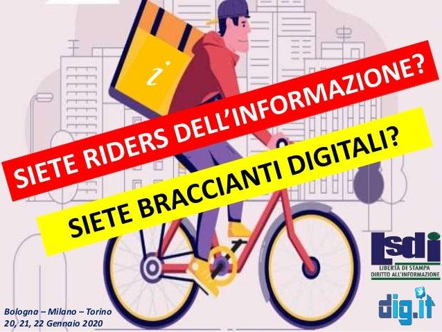 Bologna – Milano – Torino 20, 21, 22 Gennaio 2020