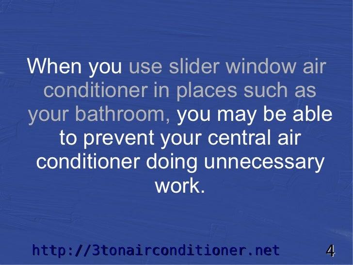 Bathroom Window Air Conditioner slider window air conditioner selection