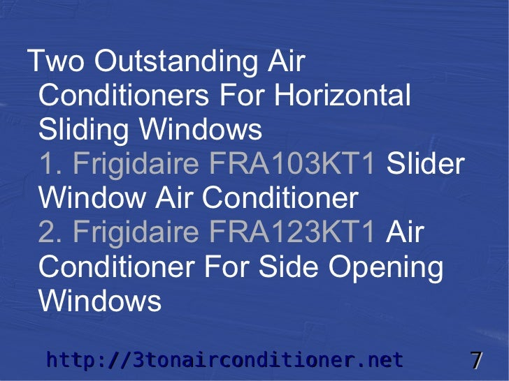 Slider Window Air Conditioner Selection