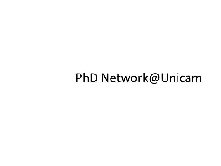 PhD Network@Unicam