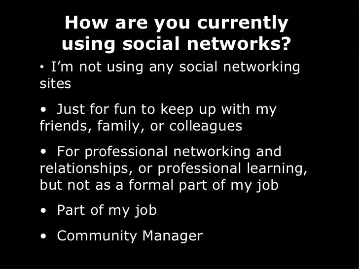Professional Online Networking and Community Building Slide 2