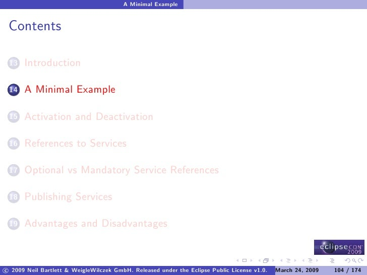 A Minimal Example    Contents        Introduction  13         A Minimal Example  14         Activation and Deactivation  1...
