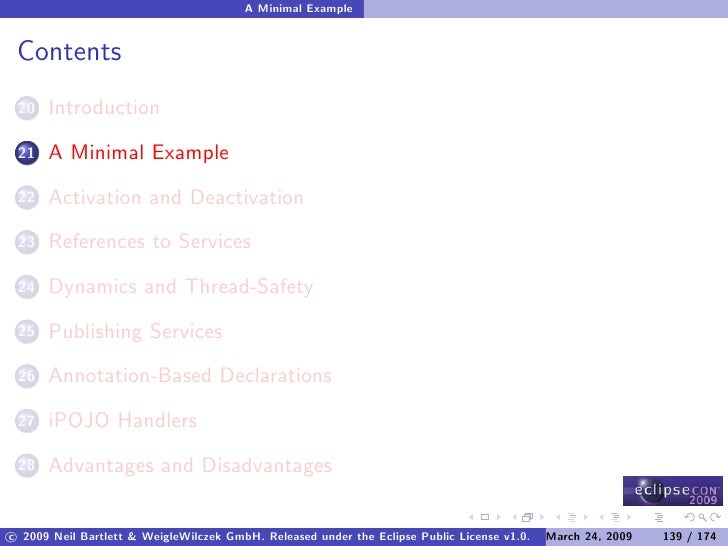A Minimal Example    Contents       Introduction  20        A Minimal Example  21        Activation and Deactivation  22  ...
