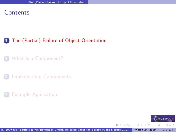 The (Partial) Failure of Object Orientation    Contents         The (Partial) Failure of Object Orientation   1          W...