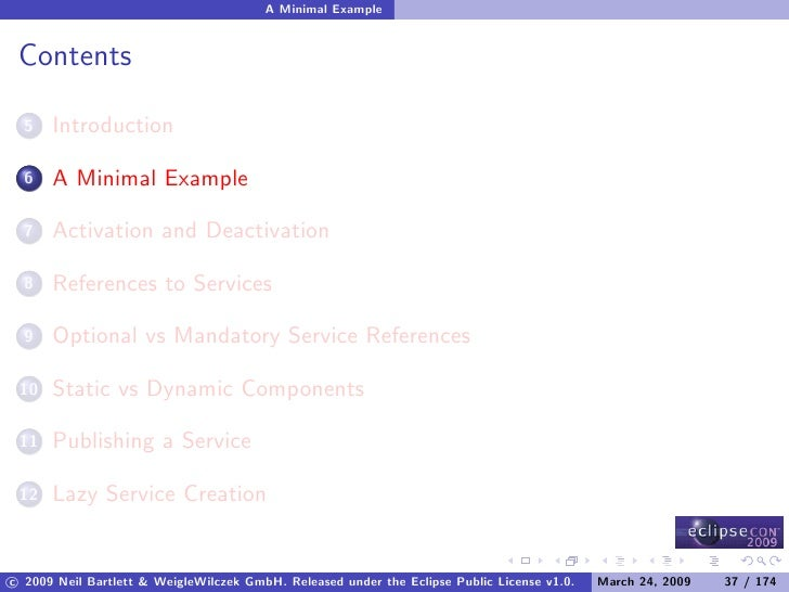 A Minimal Example    Contents        Introduction   5         A Minimal Example   6         Activation and Deactivation   ...